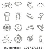 biking sport   equipment icons... | Shutterstock .eps vector #1017171853