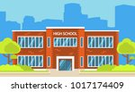 building high school of the... | Shutterstock .eps vector #1017174409