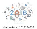 infographic concept  2018  ... | Shutterstock .eps vector #1017174718