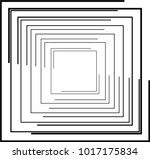 rectangle logo with lines... | Shutterstock .eps vector #1017175834