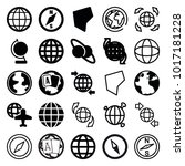 geography icons. set of 25... | Shutterstock .eps vector #1017181228