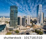 Sky Line Of Tel Aviv Towers And ...