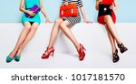 fashion shopping image with... | Shutterstock . vector #1017181570