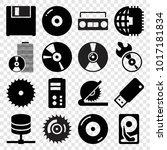 disk icons. set of 16 editable... | Shutterstock .eps vector #1017181834