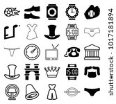 classic icons. set of 25... | Shutterstock .eps vector #1017181894