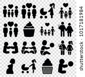 mom icons. set of 16 editable... | Shutterstock .eps vector #1017181984