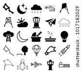 sky icons. set of 25 editable... | Shutterstock .eps vector #1017182029