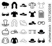 stylish icons. set of 25... | Shutterstock .eps vector #1017182038