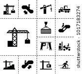 lift icons. set of 13 editable... | Shutterstock .eps vector #1017183274