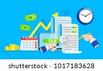 the tax form banner.... | Shutterstock .eps vector #1017183628