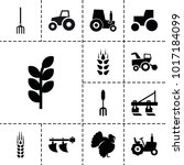 agricultural icons. set of 13... | Shutterstock .eps vector #1017184099