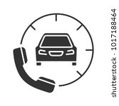 taxi ordering glyph icon.... | Shutterstock .eps vector #1017188464