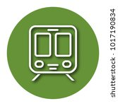 line icon of train with shadow. ... | Shutterstock .eps vector #1017190834