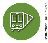 line icon of train with shadow. ... | Shutterstock .eps vector #1017190840