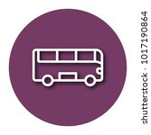line icon of bus with shadow.... | Shutterstock .eps vector #1017190864