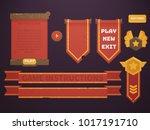 game design set. ui interface...