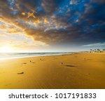 dramatic sky over newport beach ... | Shutterstock . vector #1017191833