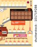 cupcake factory vector... | Shutterstock .eps vector #101719288