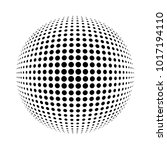 white 3d halftone sphere.dotted ... | Shutterstock . vector #1017194110