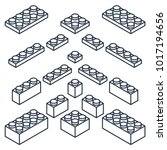 set of outline building blocks...   Shutterstock .eps vector #1017194656