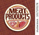 vector logo for meat | Shutterstock .eps vector #1017195178