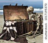 portrait of an ancient skeleton ... | Shutterstock . vector #1017195370