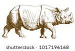 vector antique engraving... | Shutterstock .eps vector #1017196168