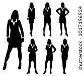 vector silhouettes women... | Shutterstock .eps vector #1017196924