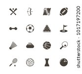sport icons. flat simple icon   ... | Shutterstock . vector #1017197200