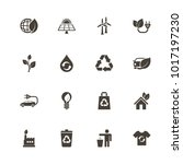 ecological icons. flat simple... | Shutterstock . vector #1017197230