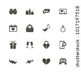 love icons. flat simple icon  ... | Shutterstock . vector #1017197518