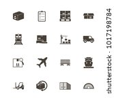 cargo icons. flat simple icon   ... | Shutterstock . vector #1017198784