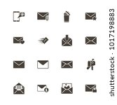 mail icons. flat simple icon  ...   Shutterstock . vector #1017198883