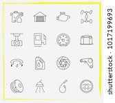 auto parts line icon set engine ... | Shutterstock .eps vector #1017199693