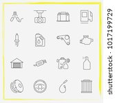 auto parts line icon set airbag ... | Shutterstock .eps vector #1017199729