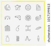 auto parts line icon set... | Shutterstock .eps vector #1017199813