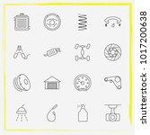 auto parts line icon set... | Shutterstock .eps vector #1017200638