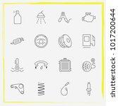 auto parts line icon set...   Shutterstock .eps vector #1017200644