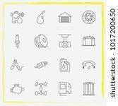 auto parts line icon set spark... | Shutterstock .eps vector #1017200650
