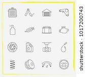 auto parts line icon set auto... | Shutterstock .eps vector #1017200743