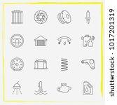 auto parts line icon set oil... | Shutterstock .eps vector #1017201319