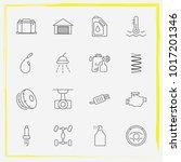 auto parts line icon set auto... | Shutterstock .eps vector #1017201346