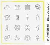 auto parts line icon set tire...   Shutterstock .eps vector #1017201370
