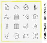 auto parts line icon set car... | Shutterstock .eps vector #1017201376