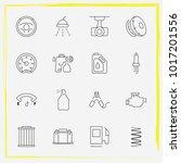 auto parts line icon set car... | Shutterstock .eps vector #1017201556