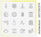 auto parts line icon set... | Shutterstock .eps vector #1017201574