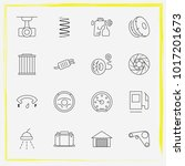 auto parts line icon set airbag ... | Shutterstock .eps vector #1017201673