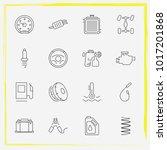 auto parts line icon set spark...   Shutterstock .eps vector #1017201868
