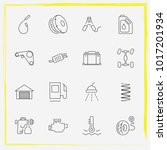 auto parts line icon set car... | Shutterstock .eps vector #1017201934