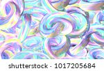 holographic abstract background.... | Shutterstock . vector #1017205684